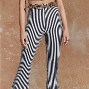 Pants - Nastygal stripped flare pants